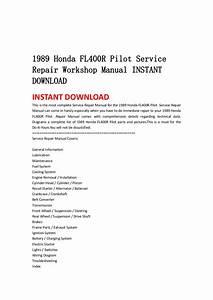 1989 Honda Fl400 R Pilot Service Repair Workshop Manual
