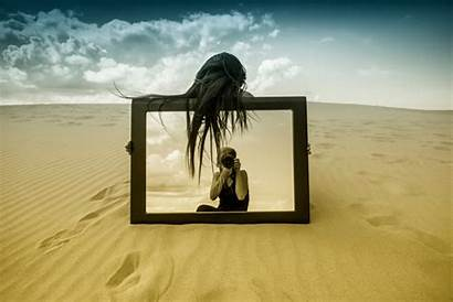 Mirror Reflection Dog Wallpapers Sand Friend Current