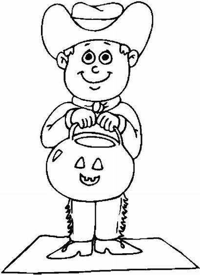 Cowboy Costume Costumes Halloween Coloring Pages