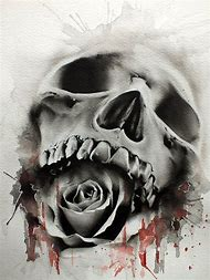 Best Skull Rose Tattoo Ideas And Images On Bing Find What Youll