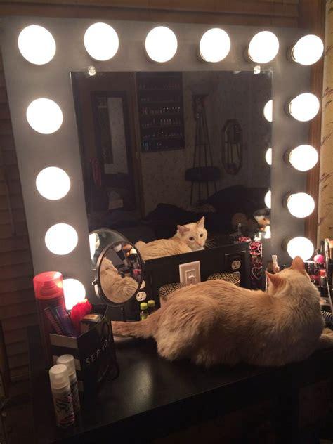 vanity mirror with lights lighted makeup mirror diy