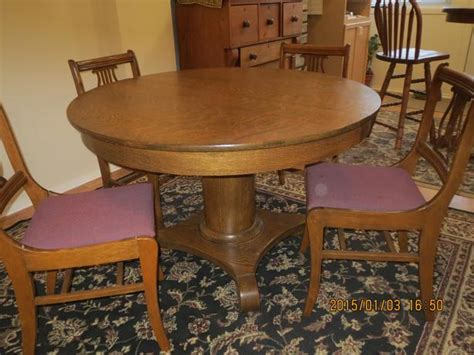 antique oak pedestal table chairs central ottawa