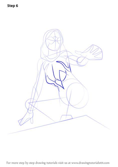 learn   draw spider gwen marvel comics step  step