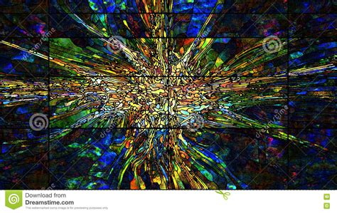 Digital Stained Glass Stock Illustration Image Special