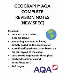 Geography Gcse Aqa Complete Revision Notes  Papers 1 2 3