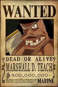 Blackbeard Wanted Poster by AnimeGalaxyHD on DeviantArt