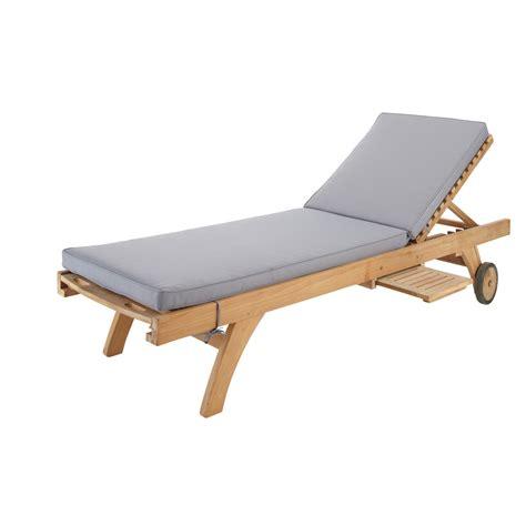 matelas chaise longue matelas bain de soleil gris maisons du monde