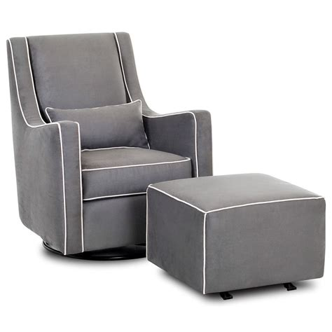 chair and ottoman sets klaussner chairs and accents contemporary swivel