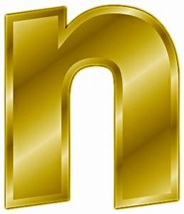 free gold letter n clipart free clipart graphics With gold letter n