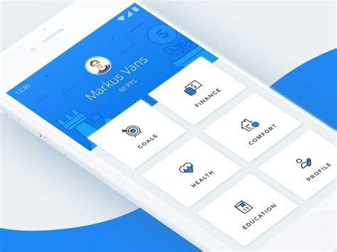 material design home screen  images android app