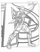 Hawkeye Coloring Pages Marvel Printable Activity Shelter Via sketch template