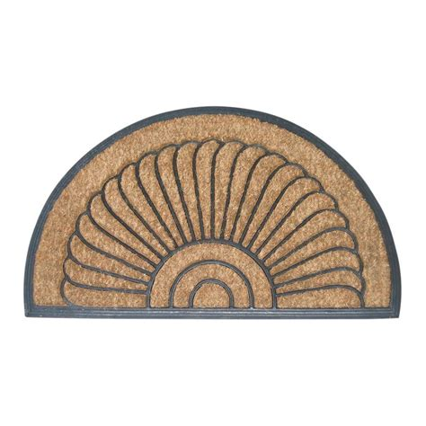 Half Circle Doormat by Entryways Shell Half 18 In X 30 In Recycled Rubber