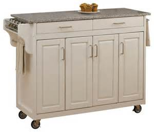 white kitchen island cart create a cart white finish sp granite top transitional kitchen islands and kitchen carts