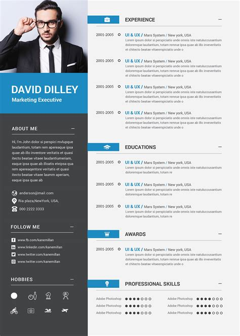 professional cv template cover letter  marketing