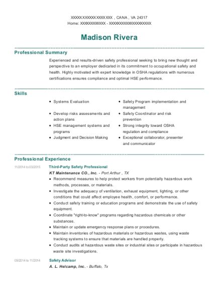 Safety Manager Resume by Best Site Safety Manager Resumes Resumehelp