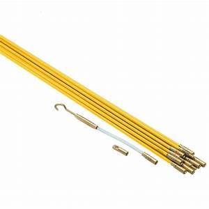 33 U0026 39  Ft Fiberglass Electric Cable Wire Running Kit For Wall