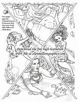 Fantasy Books Coloring Fantasies Adults Pages Fishtank Called Visit sketch template