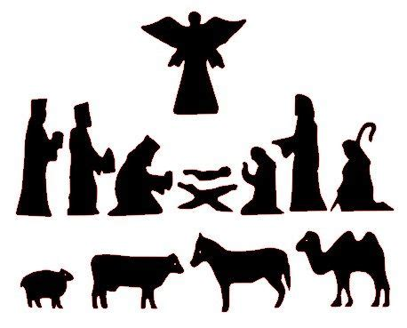 nativity scene figures clipart   cliparts