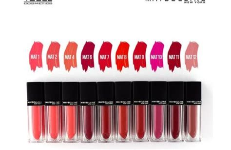 Harga Lipstik Merk Maybelline daftar harga lipstik maybelline terbaru mei 2019