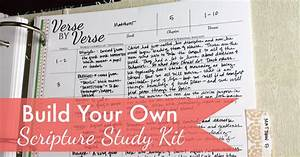 Build Your Own Scripture Study Kits