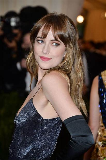 Dakota Johnson Shades Grey Fifty Bangs Hairstyle
