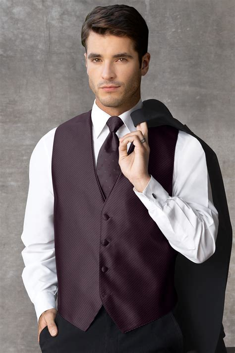 synergy plum vest jims formal wear