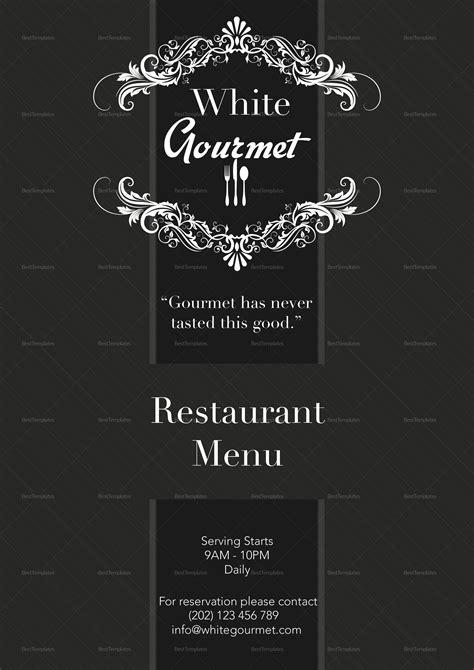 elegant menu design template  psd word publisher