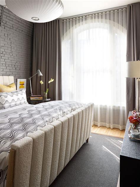 dark curtains  shape  dramatic cozy interior