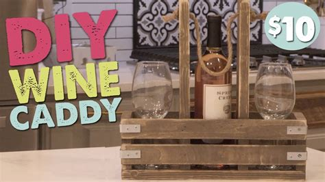 The caddy comes with a glass stir build our diy caddy kit. DIY Wine Caddy   Wine caddy, Diy wine, Diy magazine