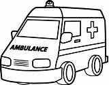 Ambulance Coloring Drawing Truck Fire Pages Semi Emt Wecoloringpage Sheets Clip Vehicles Clipartmag Butterfly Games sketch template