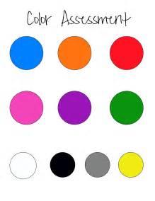 Color Assessment for Preschoolers