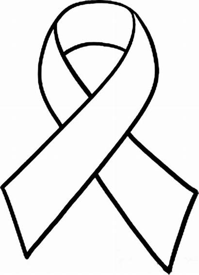 Cancer Ribbon Outline Breast Clipart Clipartion