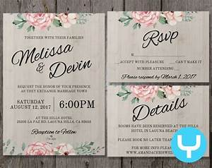 printable floral wedding invitation kit templates rsvp With wedding invitation application free download