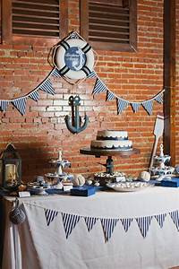 nautical wedding grooms table party collin39s wedding With nautical wedding table decor