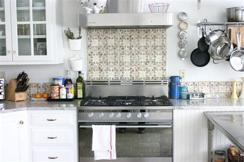 Square Tile Backsplash : Stunning Mediterranean Kitchen Tiles Botticino Tile