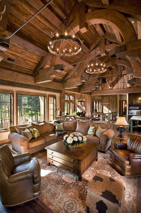 Rustic Interiors By Belle Grey Design  At The Lodge