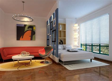 bedroom partition small apartment decorating modern