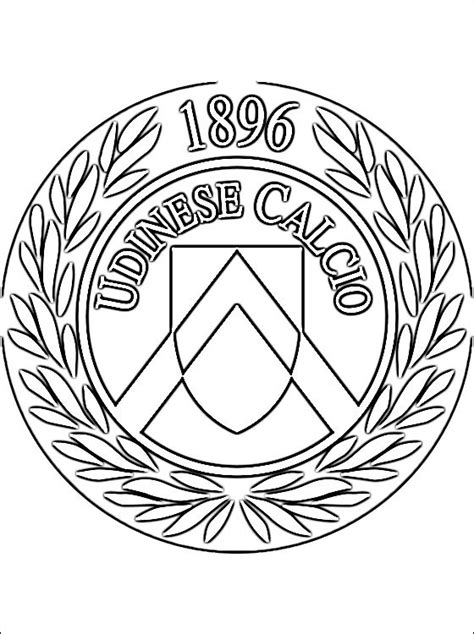 emblem  udinese calcio coloring page coloring pages