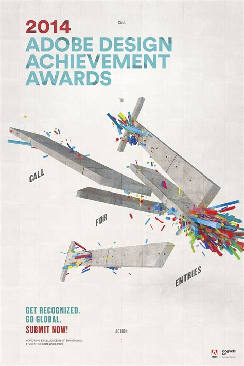 adobe design achievement awards adobe design achievement awards 2014 poster