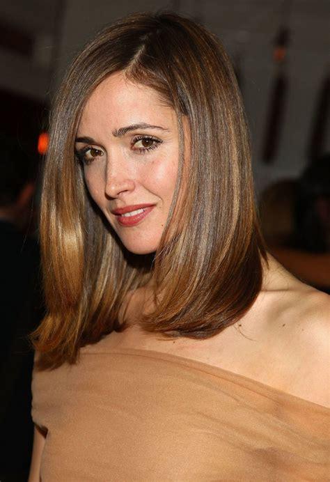 medium length straight hairstyles  women elle