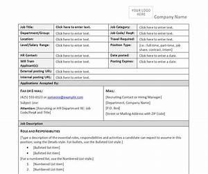 Job Description Form Template Job Description Form