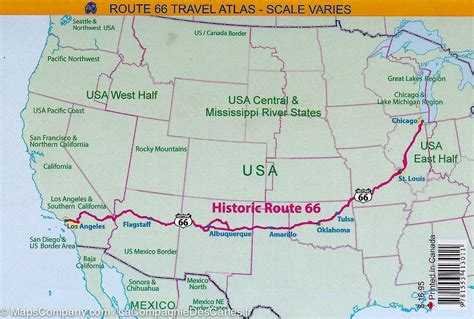 Carte Usa Villes Route 66 by Atlas Routier De Poche De La Route 66 Usa La Compagnie