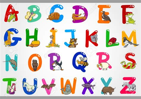 Cartoon Alphabet Letters Clip Art