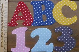 iron on fabric letters and numbers 75 cm polka dot With fabric letters and numbers