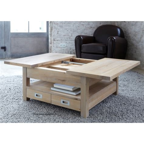 bureau louis philippe table basse carré 100 chêne massif 1 allonge 4 tiroirs