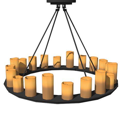 pillar candle chandeliers 3d model formfonts 3d