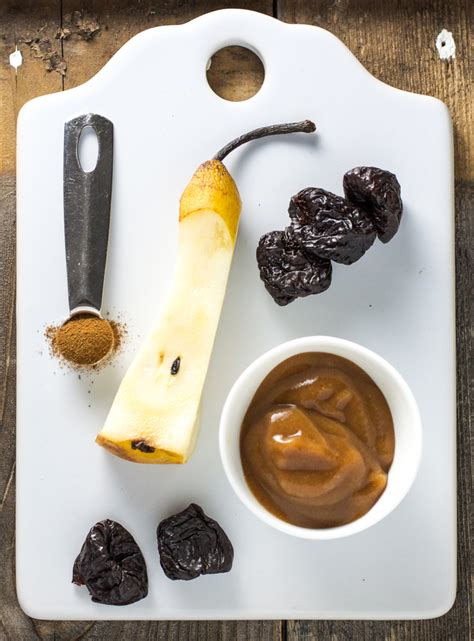 cuisine prune pears prunes cloves constipation cure puree pear