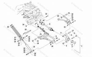 Arctic Cat Side By Side 2008 Oem Parts Diagram For Rear Suspension Assembly
