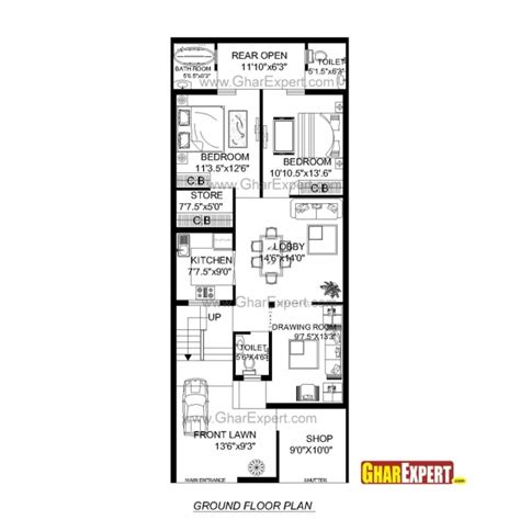 floor plans for 20x60 house 20 x 60 house plan india