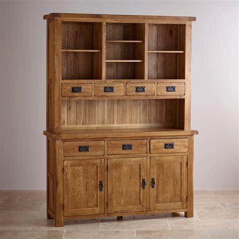 original rustic large dresser  solid oak oak furniture